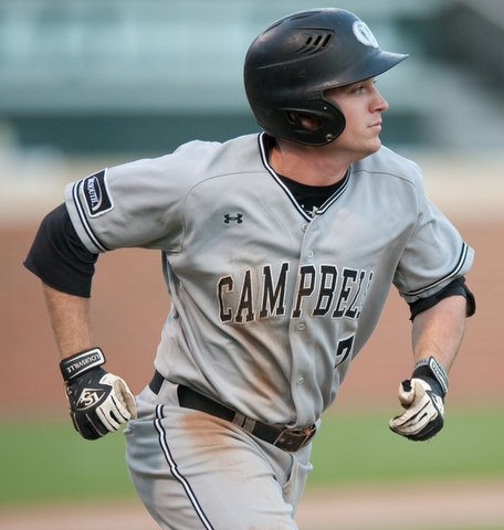 Campbell junior designated hitter Matt Parrish