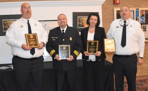 Ellis Daniels was presented the Community Service Award, Ben Lawson was recognized for his work and dedication with Johnston County EMS, Director Kim Robertson received the Excellence Award, and Jerry Lynch was the recipient of the Dedicated Service Award.