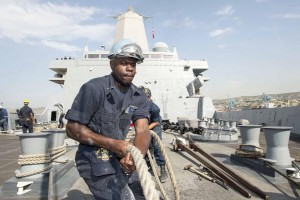 Boatswain's Mate Seaman Derrick Elliott, from Bunnlevel, NC,