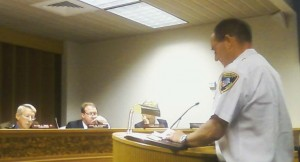 Paul Whitehurst, Assistant Director of Johnston County Emergency Services, discusses a new fire services contract with Johnston County Commissioners.