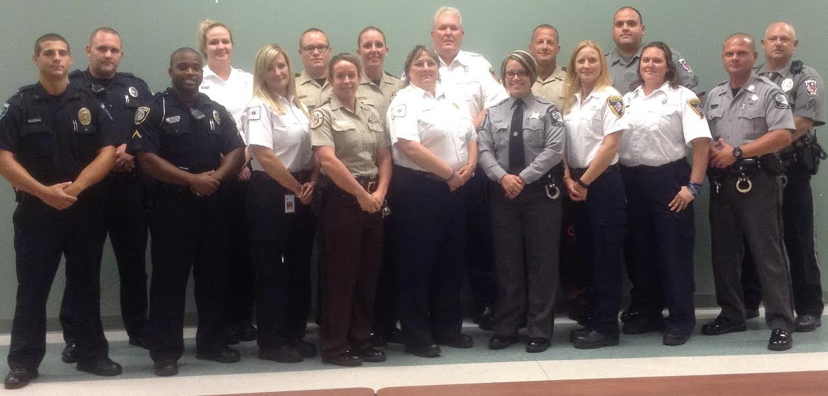 August 2015 CIT Graduates: Front Row: Andrew Kesick- Lillington PD, Travis Kornegay- ECU PD, Teresa Wall- Johnston Co EMS, Meredith Langston- Johnston Co Sheriff's Office, Lisa Langston- Four Oaks EMS, Hope Shivar- Wayne Co Sheriff's Office, Tonya Jones- Johnston Co EMS, Jennifer Turner, Johnston Co EMS, Michael Machamer- Wayne Co Sheriff's Office. Back Row: Brett Kain- Fuquay-Varina PD, Sarah Thead- Johnston Co EMS, Bradley Matthews- Johnston Co Sheriff's Office, Millicent Bailey- Johnston Co Sheriff's Office, Richard McLeod- Johnston Co EMS, Michael Wolbert- Johnston Co Sheriff's Office, David Neilson- Selma PD, Donald Wilson- Selma PD. Contributed photo