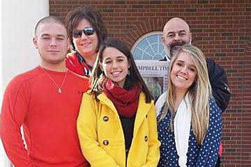 (Left to right): Matthew, Michelle, Maegan, Chip and Kathyrn Hewett of Princeton have been named Campbell's 2015 Family of the Year. Photo and story courtesy Campbell University