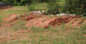 Erosion in Mitchiner Hills in Clayton