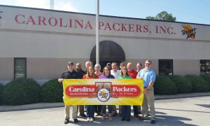 (Left to right) Back row: Randy Egland, (IT Manager), Charlie Oats (Operations Manager), Lisa Beasley (Order Processing), Donnie Moore (HACCP Coordinator). Middle Row: Chris Moore (Assistant Plant Manager), Elaine Byrd (Office Manager), Jimmy Butler (Sales Manager), Johnny Hayes (Plant Manager). Front Row: Kurt Byrd (Accounting Manager), Sharon Holloman (Accounts Payable), Elizabeth Ennis (Accounts Receivable), Delcie Crumpler (Receptionist), Kent Denning (President/General Manager).