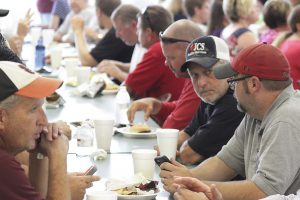 JCS employees enjoy a special back to school luncheon.